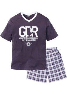Пижама с  шортами (сливовый/белый) Bonprix