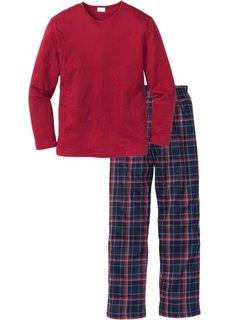 Мужская пижама (красный в клетку) Bonprix