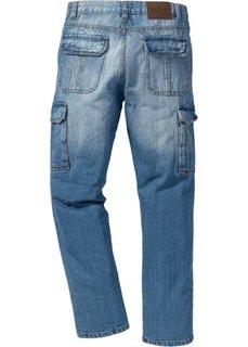 Классические джинсы карго, cредний рост (N) (голубой) Bonprix