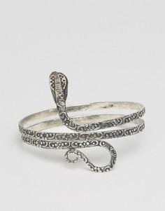 Браслет в виде змеи Raga - Серебряный