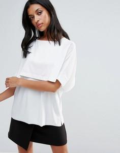 Двухслойная футболка Liquorish - Белый