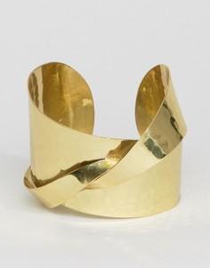 Броский браслет-манжета с кованным эффектом ASOS - Золотой