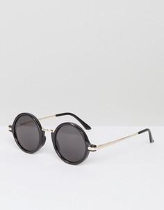 Черные круглые солнцезащитные очки AJ Morgan Rotunda - Черный
