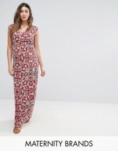 Платье макси с цветочным принтом Mamalicious - Белый Mama.Licious