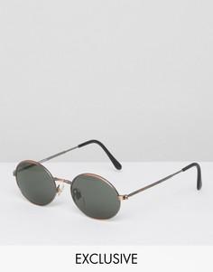 Круглые солнцезащитные очки Reclaimed Vintage - Медный