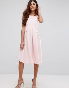Приталенное платье миди для выпускного Be Jealous - Розовый