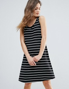 Короткое приталенное платье в полоску B.Young - Мульти