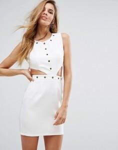 Платье с вырезом Glamorous - Белый