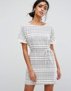 Платье в полоску с поясом Vila - Мульти