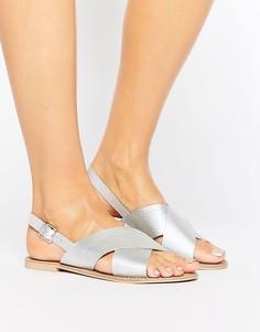 Кожаные сандалии цвета металлик Faith - Серебряный