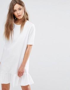 Платье с оборками J.D.Y - Белый JDY