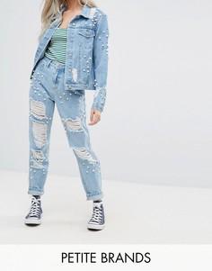 Джинсы в винтажом стиле с декоративной отделкой Glamorous Petite - Синий