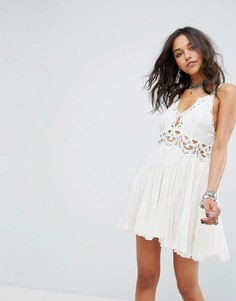 Кружевное платье мини Free People Ilektra - Белый