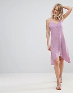 Сарафан на пуговицах с асимметричным подолом ASOS - Фиолетовый