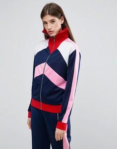 Спортивная куртка со вставками колор блок ASOS - Мульти