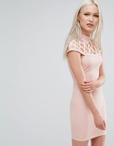 Платье со вставкой AX Paris - Розовый