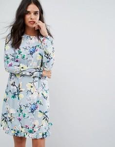 Свободное платье с цветочным принтом Y.A.S - Серый