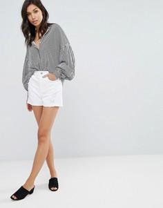 Джинсовые шорты с потертостями Vero Moda - Белый