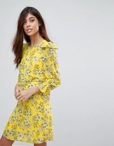 Цельнокройное платье с цветочным принтом Vero Moda - Желтый