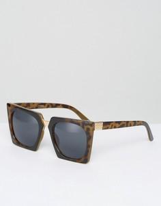 Квадратные солнцезащитные очки с металлической переносицей ASOS - Мульти