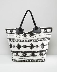Парусиновая сумка-тоут с принтом South Beach - Мульти