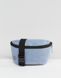 Сумка-кошелек на пояс из ткани шамбре Mi Pac - Синий