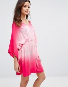 Пляжная накидка с эффектом омбре Echo - Розовый