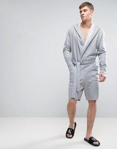 Короткий халат-комбинезон в стиле oversize ASOS - Серый