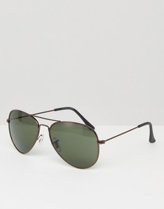 Солнцезащитные очки-авиаторы Jack & Jones - Черный
