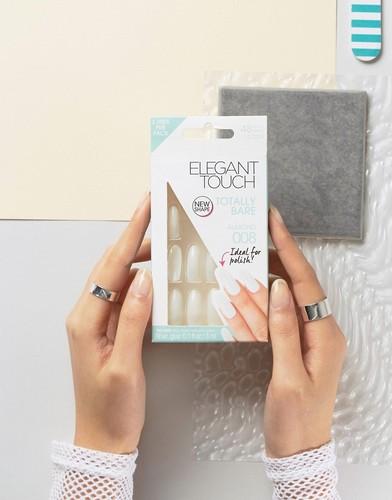 Накладные ногти миндалевидной формы Elegant Touch Totally Bare - Прозрачный