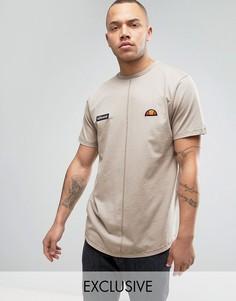 Удлиненная футболка с эффектом кислотной стирки Ellesse - Светло-серый