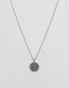 Серебрянное ожерелье с подвеской-медальоном Seven London Saint Benedict - Серебряный