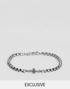 Серебристый браслет-цепочка с крестом Seven London эксклюзивно для ASOS - Серебряный