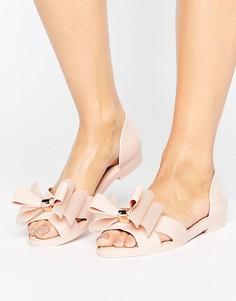 Туфли с бантом Melissa - Бежевый