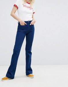 Расклешенные джинсы с завышенной талией Wrangler - Синий