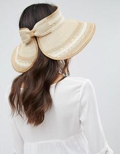 Соломенная шляпа с козырьком Boardwalk - Кремовый