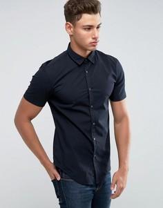 Поплиновая рубашка с короткими рукавами Esprit - Черный