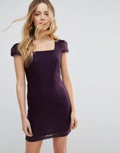 Фактурное платье-футляр Jasmine - Фиолетовый