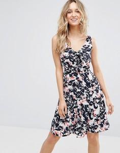 Платье с цветочным принтом и бантом Sugarhill Boutique - Мульти