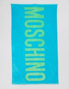 Пляжное полотенце с логотипом Moschino - Синий