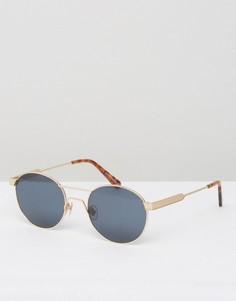 Круглые солнцезащитные очки в золотистой оправе Han Kjobenhavn - Золотой