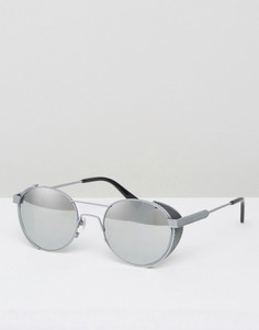 Круглые солнцезащитные очки в стальной оправе Han Kjobenhavn Outdoor - Серебряный