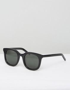 Черные солнцезащитные очки в квадратной оправе Han Kjobenhavn Ace - Черный