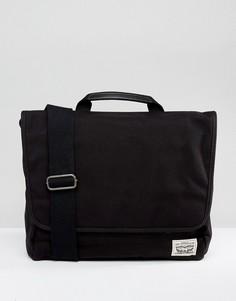 Черная парусиновая сумка почтальона Levis - Черный Levis®