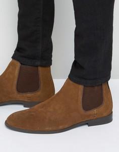 Светло-коричневые замшевые ботинки челси Ben Sherman - Рыжий