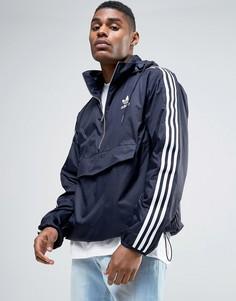 Синяя ветровка adidas Originals London Pack BK7882 - Синий
