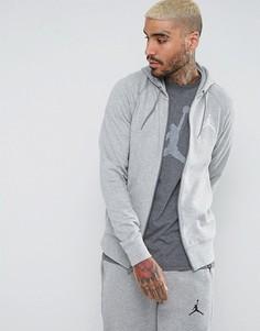 Худи серого цвета на молнии Nike Jordan Flight Lite 822658-063 - Серый