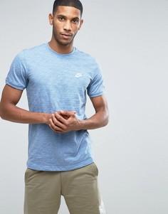 Синий свитшот с короткими рукавами Nike Legacy 822570-436 - Синий