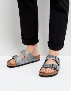 Серые сандалии из искусственной кожи Birkenstocks Arizona - Серый