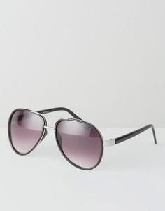 Черные солнцезащитные очки-авиаторы в золотистой оправе Jeepers Peepers - Черный